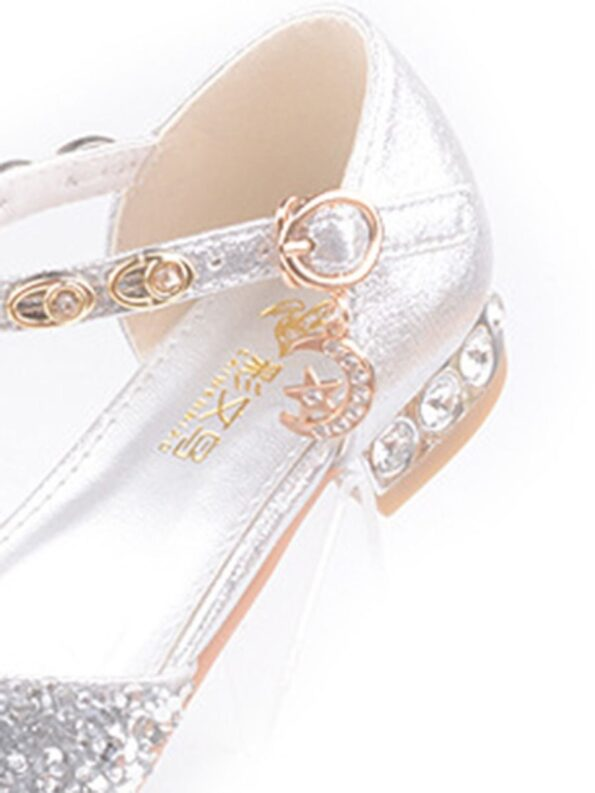 Kid Girl Gold chain Rhinestone Shoes  Wholesale 11