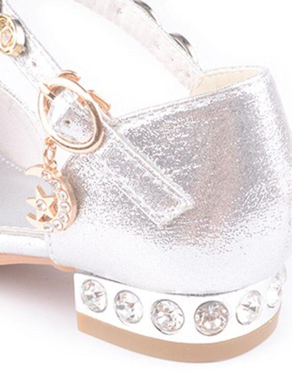 Kid Girl Gold chain Rhinestone Shoes  Wholesale 12
