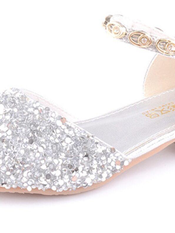 Kid Girl Gold chain Rhinestone Shoes  Wholesale 9