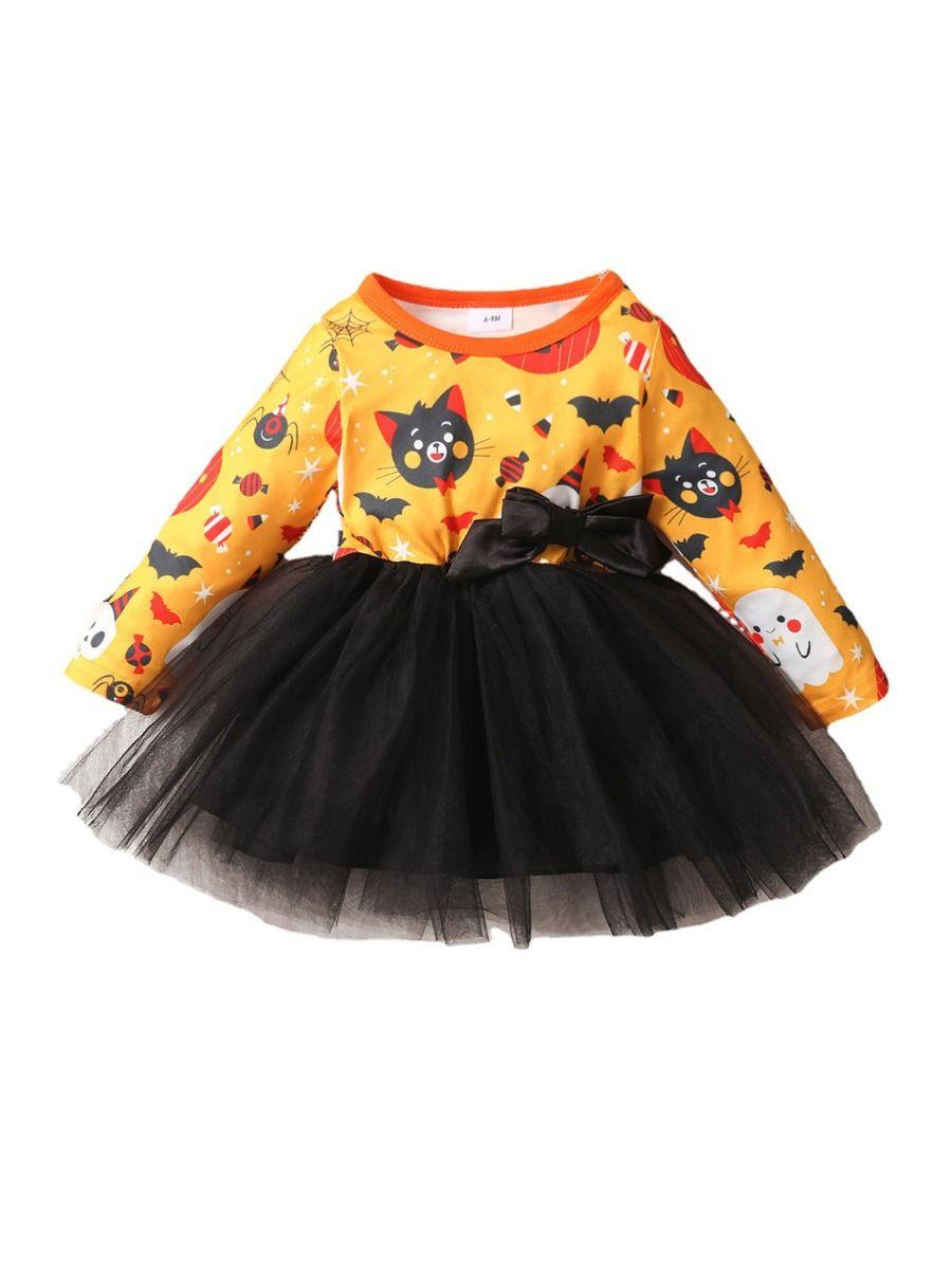 Halloween Mesh Dress For Baby Toddler Girl 2