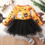 Halloween Mesh Dress For Baby Toddler Girl 3