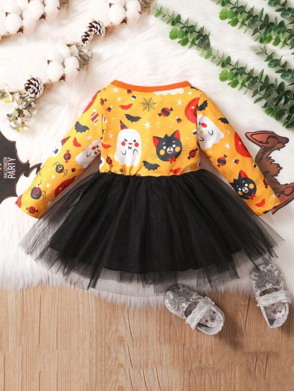 Halloween Mesh Dress For Baby Toddler Girl 8