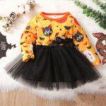 Halloween Mesh Dress For Baby Toddler Girl 4