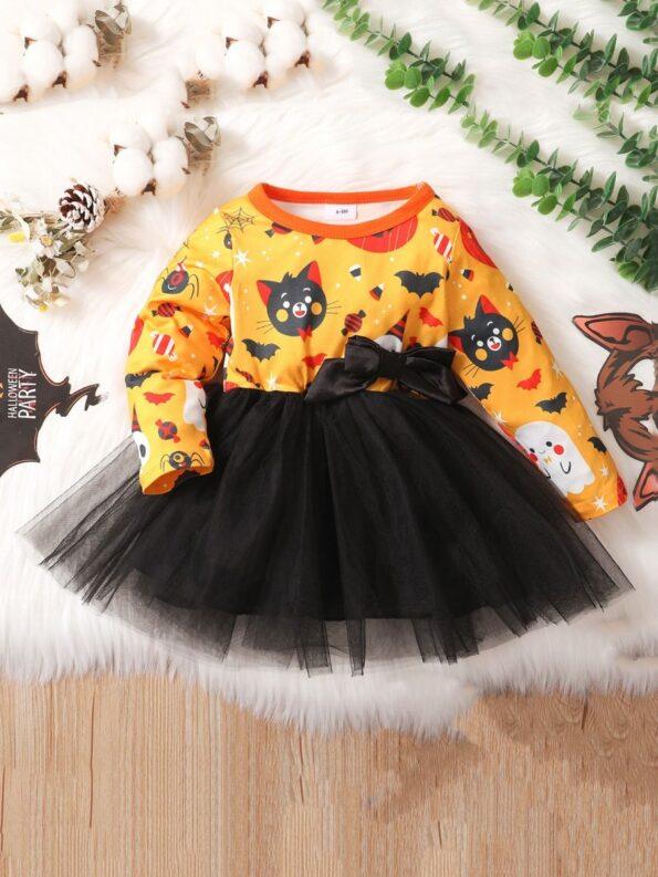 Halloween Mesh Dress For Baby Toddler Girl 9