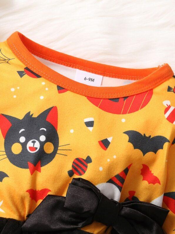 Halloween Mesh Dress For Baby Toddler Girl 12