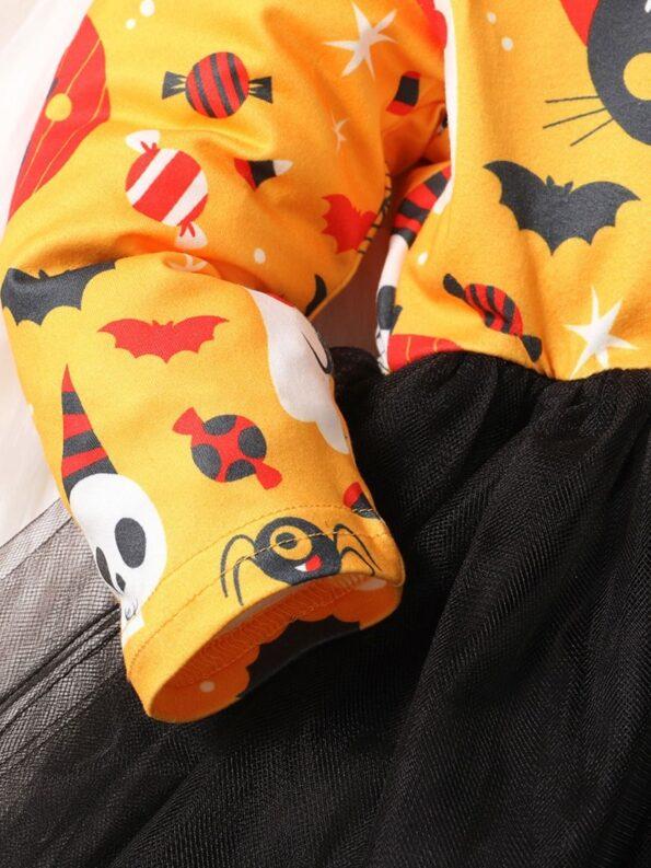 Halloween Mesh Dress For Baby Toddler Girl 11