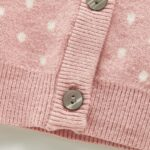 Two Pieces Polka Dots Baby Girls Outfits Sets Cardigan And Shorts 7