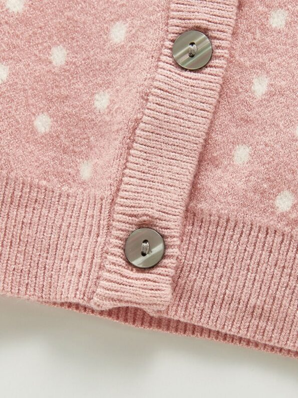 Two Pieces Polka Dots Baby Girls Outfits Sets Cardigan And Shorts 13