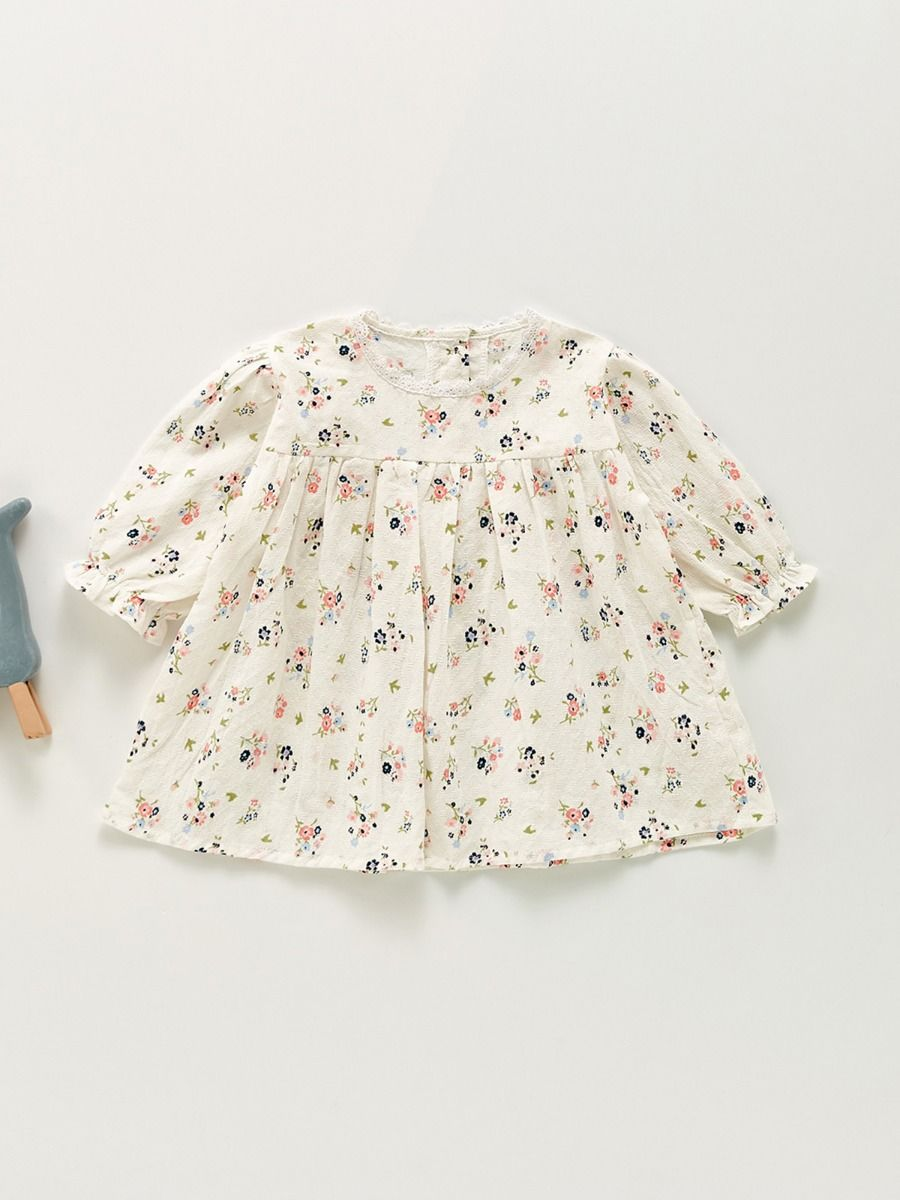 Flower Online Baby Girl Dress  Wholesale 2