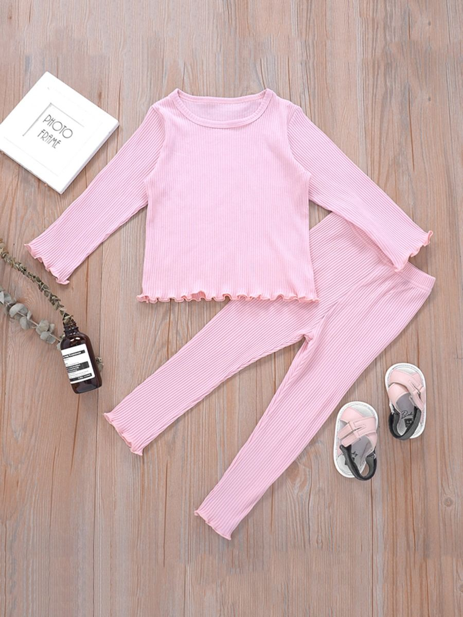 Ribbed Flared Pants For Kid Girls  Wholesale 13