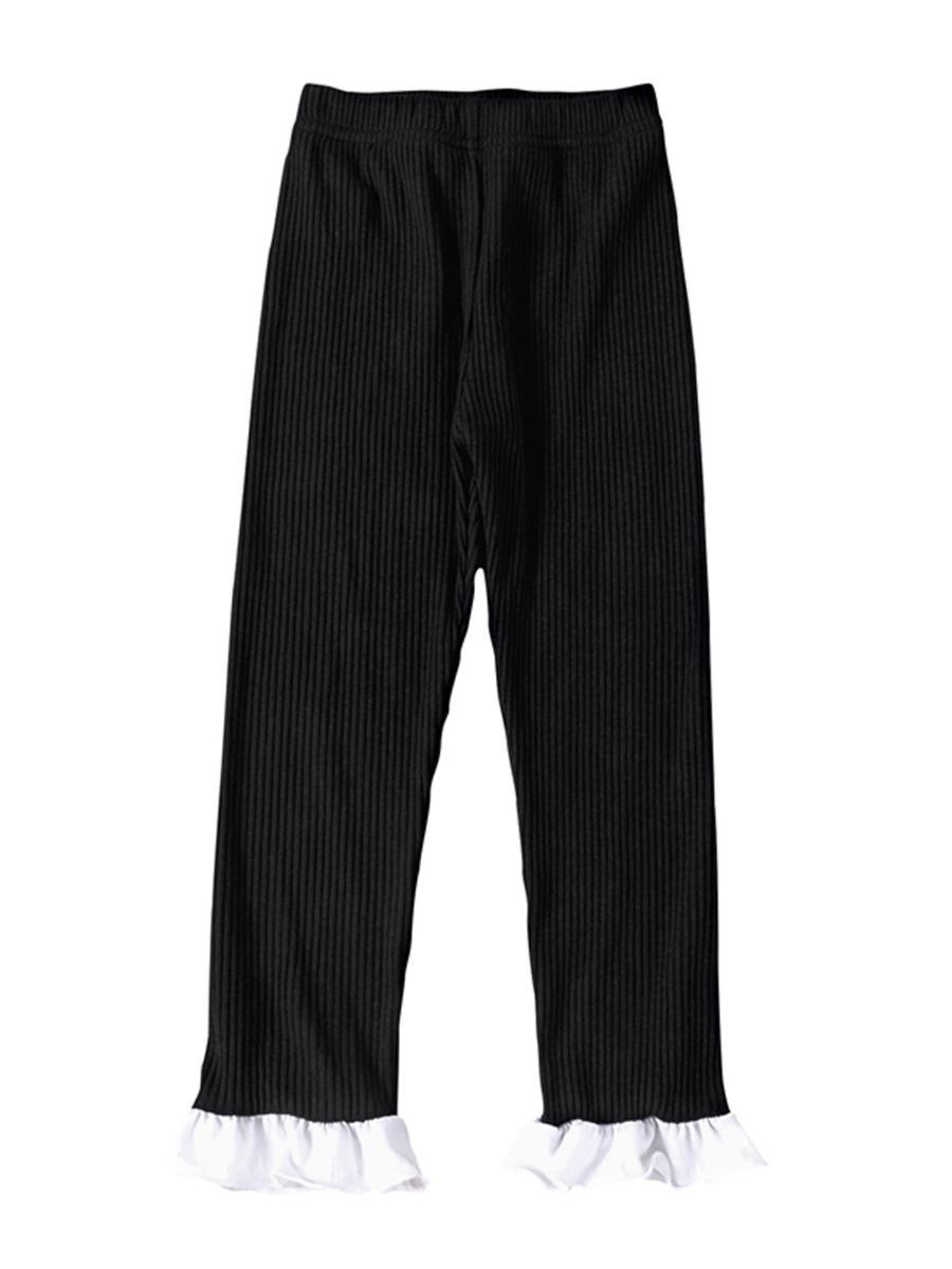 Ribbed Flared Pants For Kid Girls  Wholesale 2