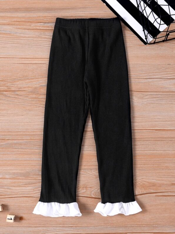 Ribbed Flared Pants For Kid Girls  Wholesale 8