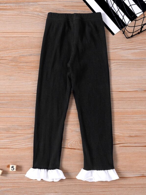 Ribbed Flared Pants For Kid Girls  Wholesale 9