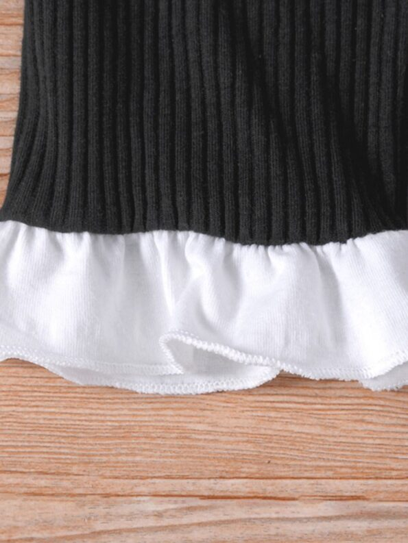 Ribbed Flared Pants For Kid Girls  Wholesale 11