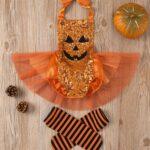 Pumpkin Mesh Suspender Wholesale Baby Onesies Baby Girl Halloween Costumes 5