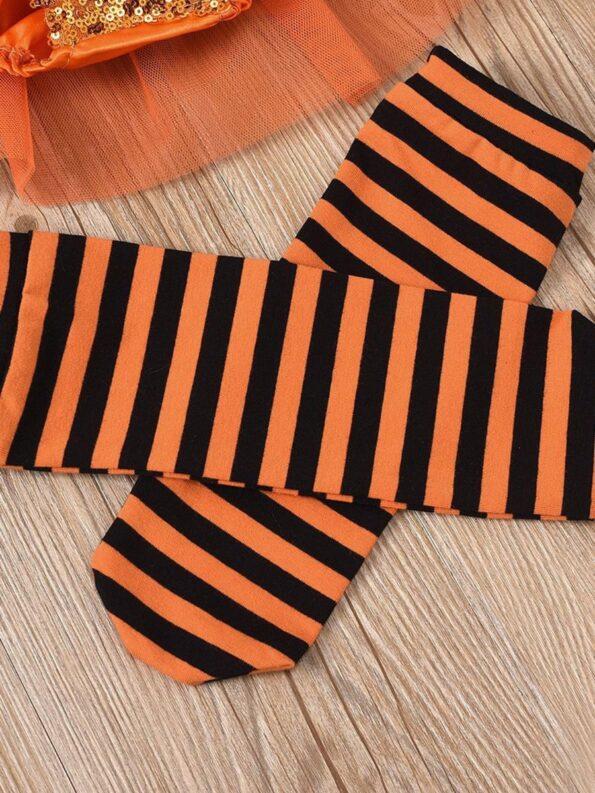 Pumpkin Mesh Suspender Wholesale Baby Onesies Baby Girl Halloween Costumes 14