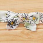 Three Pieces Flower Print Baby Girl Tracksuit Set Hoodie Headband And Sweatpants 7