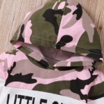 Two Pieces Little Print Camo Girl Tracksuit Set Hoodie And Jogger  Wholesale 7
