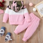 Two Pieces Little Print Camo Girl Tracksuit Set Hoodie And Jogger  Wholesale 3
