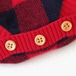 Elk Checked Xmas Long Sleeve Baby Knit Bodysuit 11