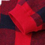 Elk Checked Xmas Long Sleeve Baby Knit Bodysuit 10