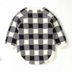 Elk Checked Xmas Long Sleeve Baby Knit Bodysuit 5