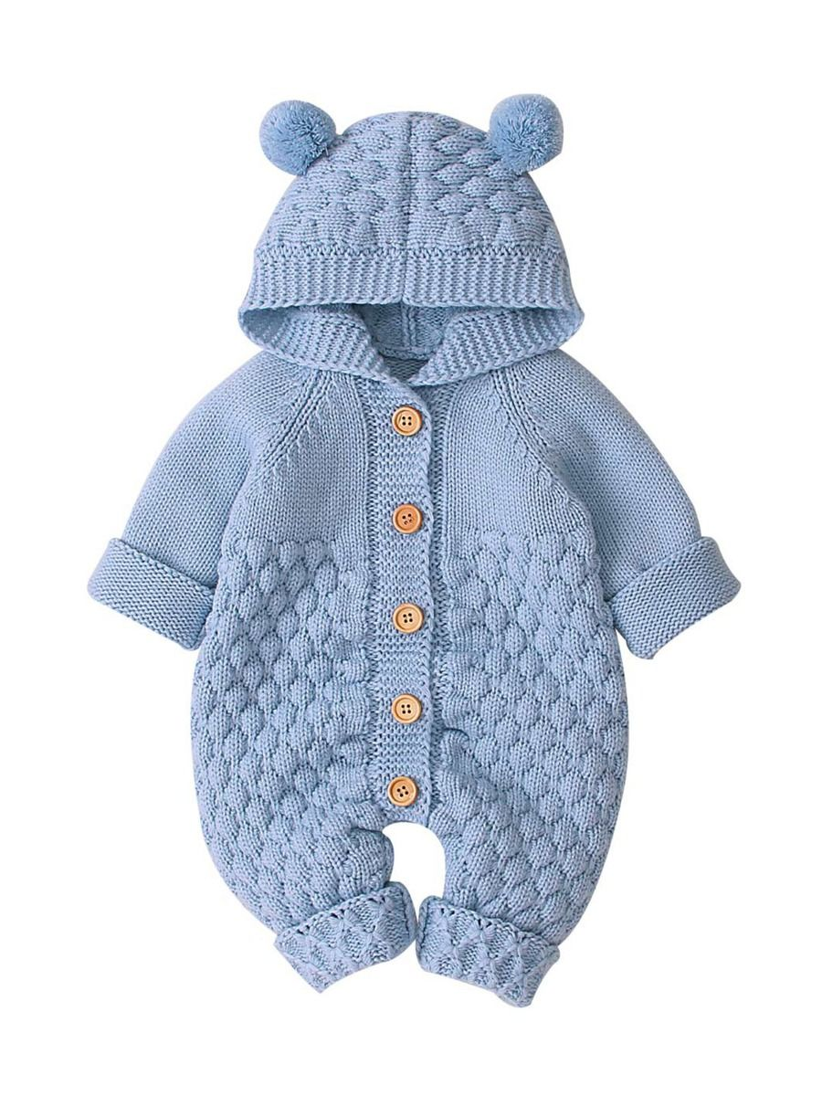 Checked Elk Christmas Knitted Baby Bodysuit 20