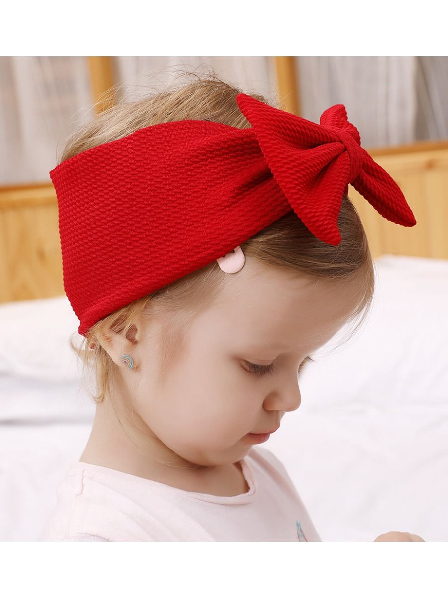 Fashion Baby Toddler Kids Solid Color Bow Hair Band Wholesale