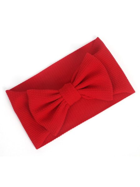 Fashion Baby Toddler Kids Solid Color Bow Hair Band Wholesale 2