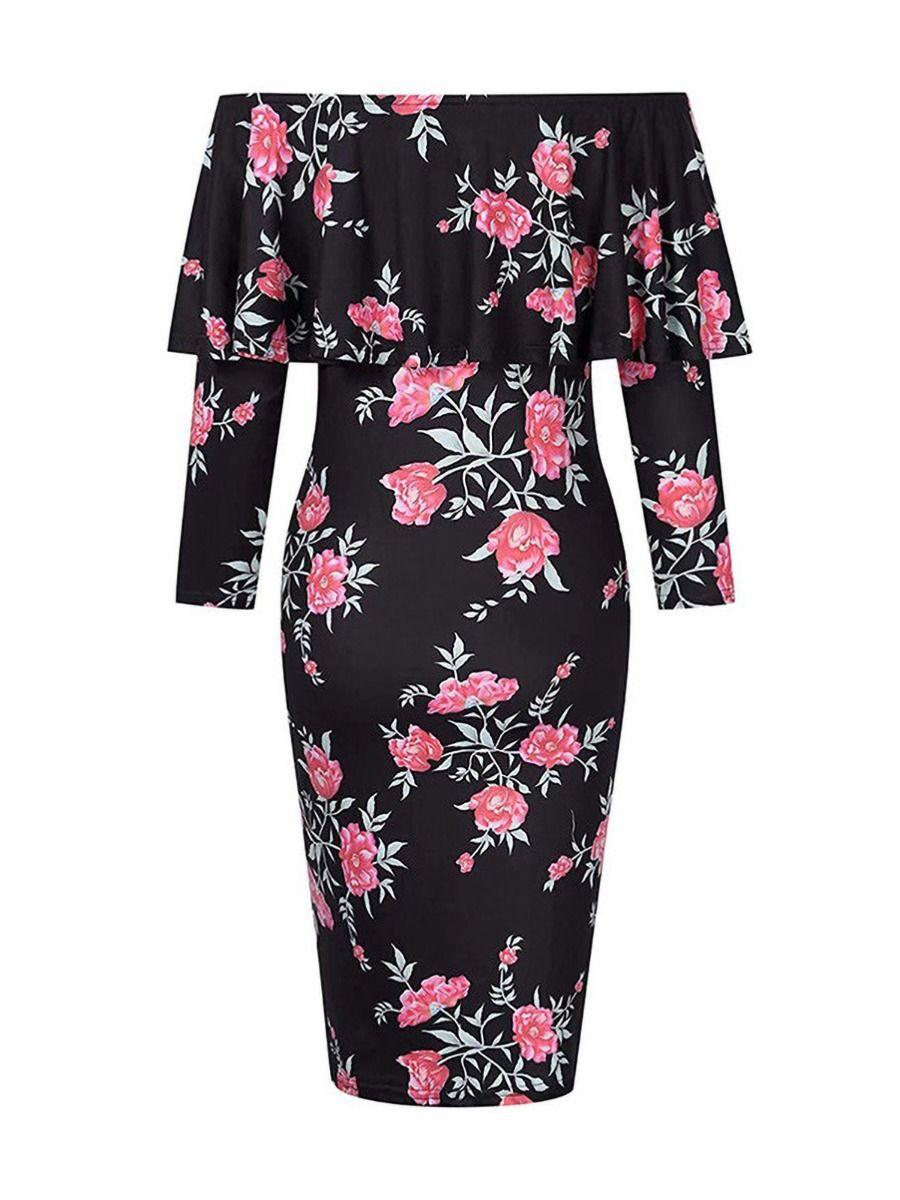 Simple Round Collar Plain Maternity Dress Wholesale Women Dresses 2021-08-26