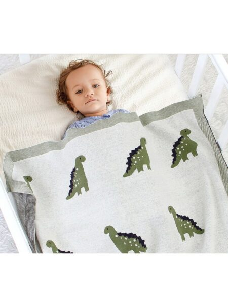 Cute Baby Dinosaur Knit Blanket Wholesale ACCESSORIES Girls