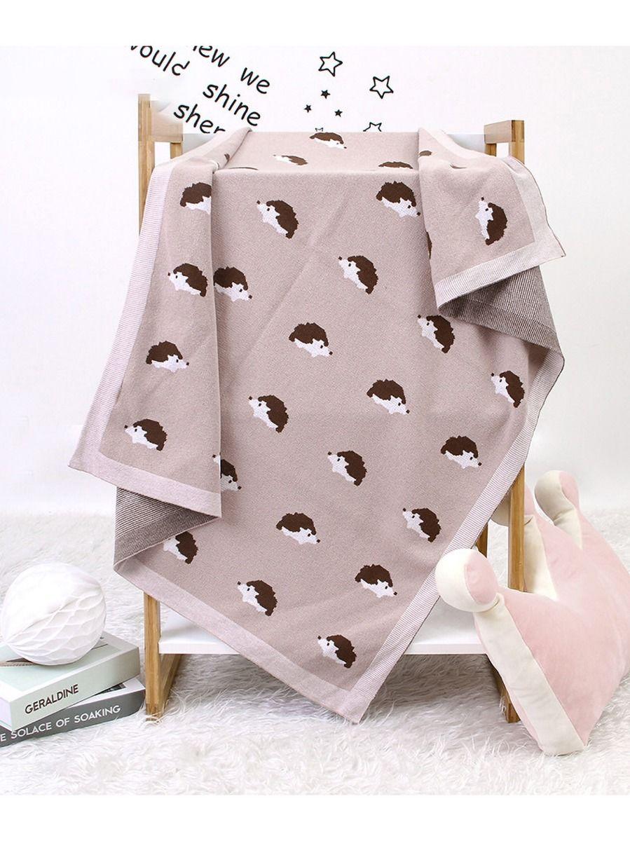 Hedgehogs Knit Baby Blanket Wholesale ACCESSORIES Unisex
