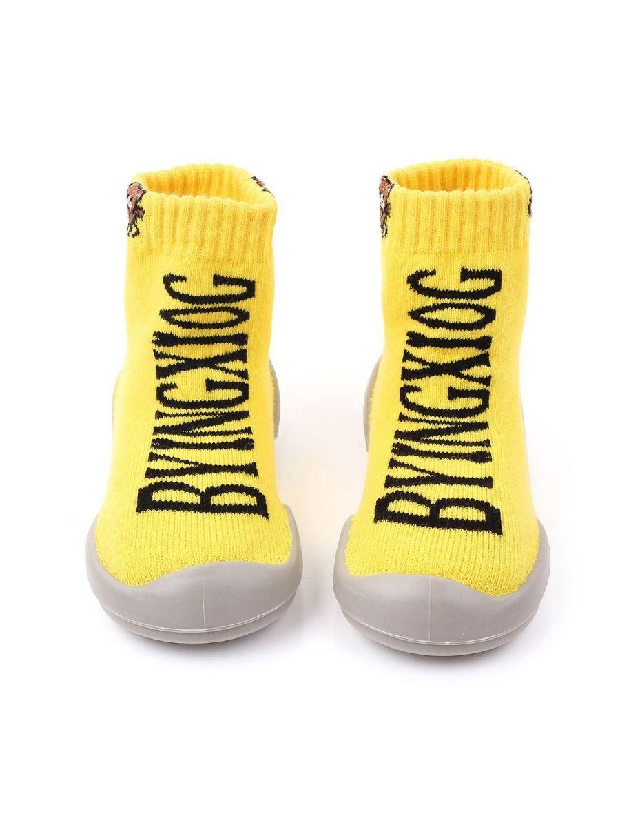 Stylish Letters Knit Slipper Socks Wholesale