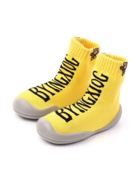 Stylish Letters Knit Slipper Socks Wholesale 2