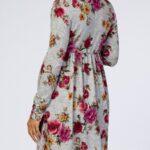 Autumn Maternity Long Sleeve Floral Print Dress Wholesale Women 3