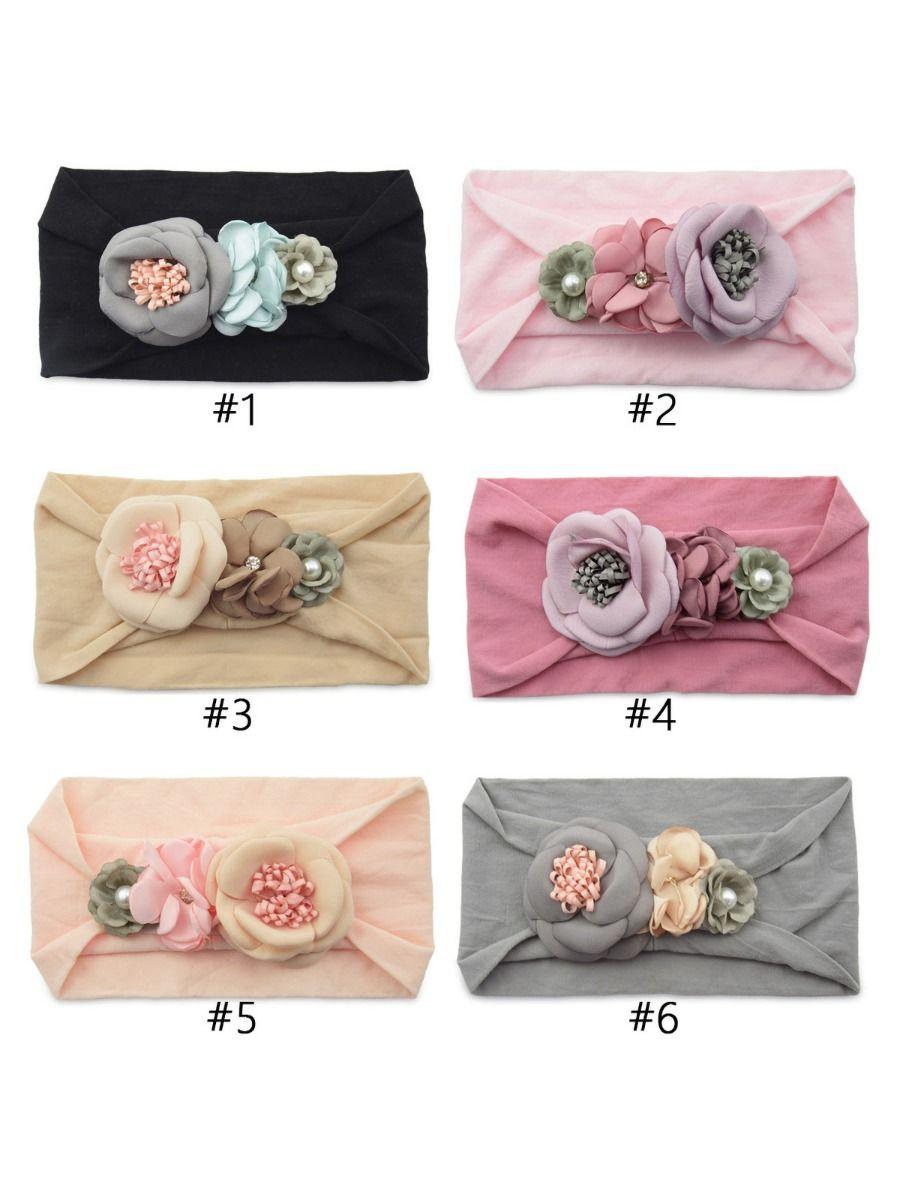 Cute Girl Flower Trim Headband Wholesale Headbands