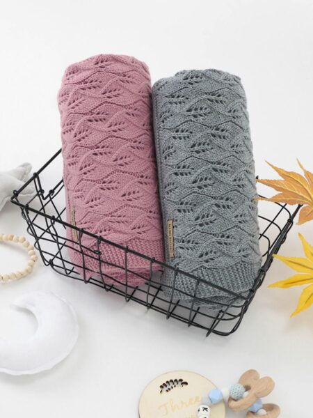 Baby Kid Solid Color Knit Blanket Wholesale ACCESSORIES Girls