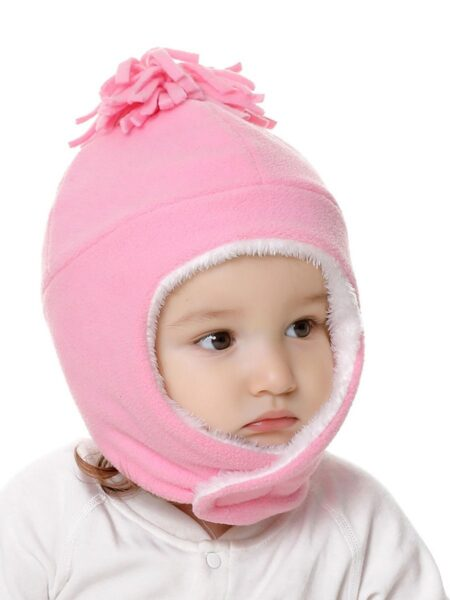 2 Pieces Kid Solid Color Fleece Beanie With Gloves Wholesale Hats ACCESSORIES Unisex