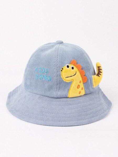 Kid Dinosaur Corduroy Bucket Hat Wholesale Hats ACCESSORIES Unisex