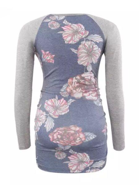 Maternity Floral Crew Neck T-Shirt Wholesale Women 2