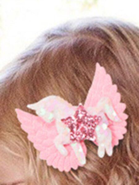 Kid Girl Sequins Unicorn & Star Hair Clip Wholesale 2