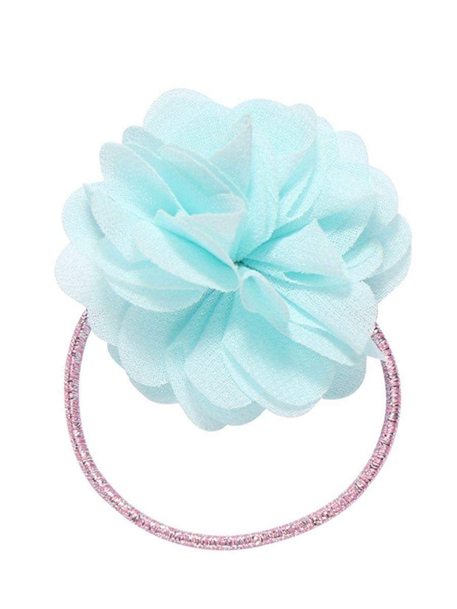 Kid Girl Flowers Decor Hair Ring Wholesale
