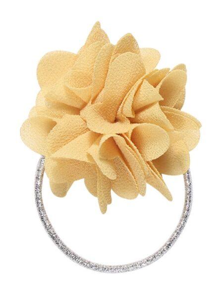 Kid Girl Flowers Decor Hair Ring Wholesale 2