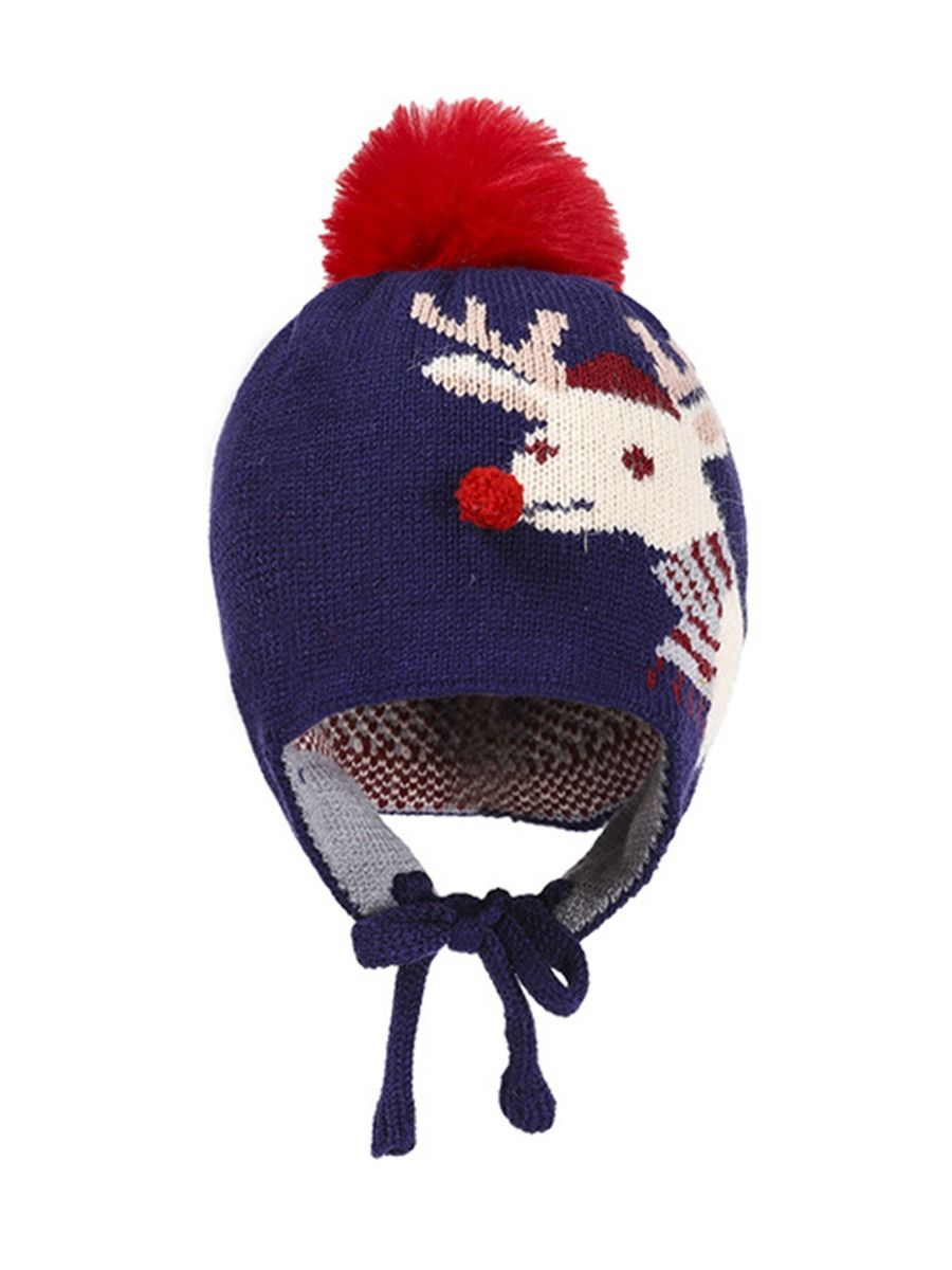 Baby Christmas Deer Knit Hat Wholesale Hats ACCESSORIES Unisex