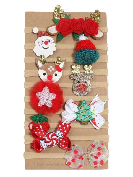 1 Pack Baby Christmas Santa Bow Headbands Wholesale 2