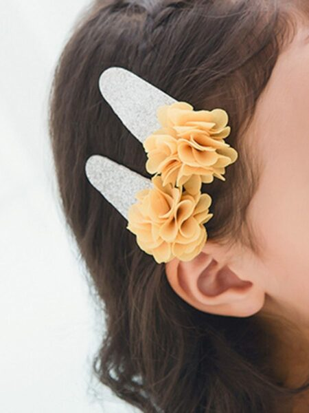 Kid Girl Sequins Flowers Hair Clip Wholesale 2