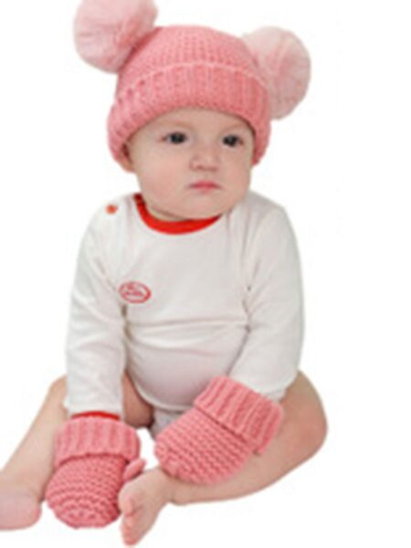 2 Pieces Baby Knit Beanie And Scarf Wholesale Hats ACCESSORIES Unisex