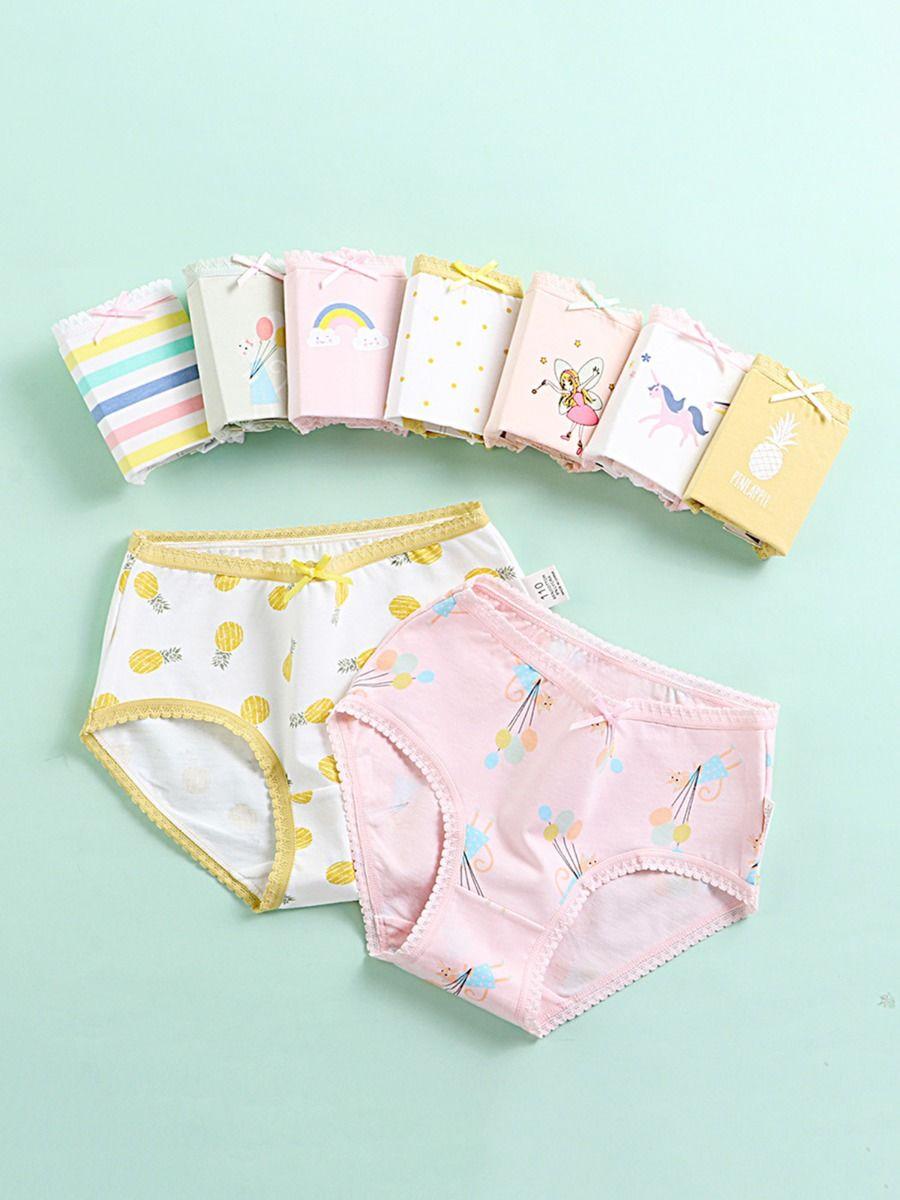 4 Pack Kid Girl Cartoon Print Panties Wholesale ACCESSORIES 2021-08-16