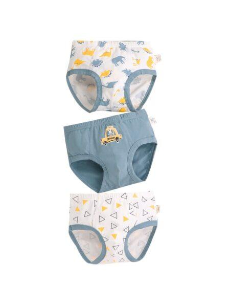 3 Pack Boy Brief Cartoon Print Panties Wholesale ACCESSORIES 2021-08-16