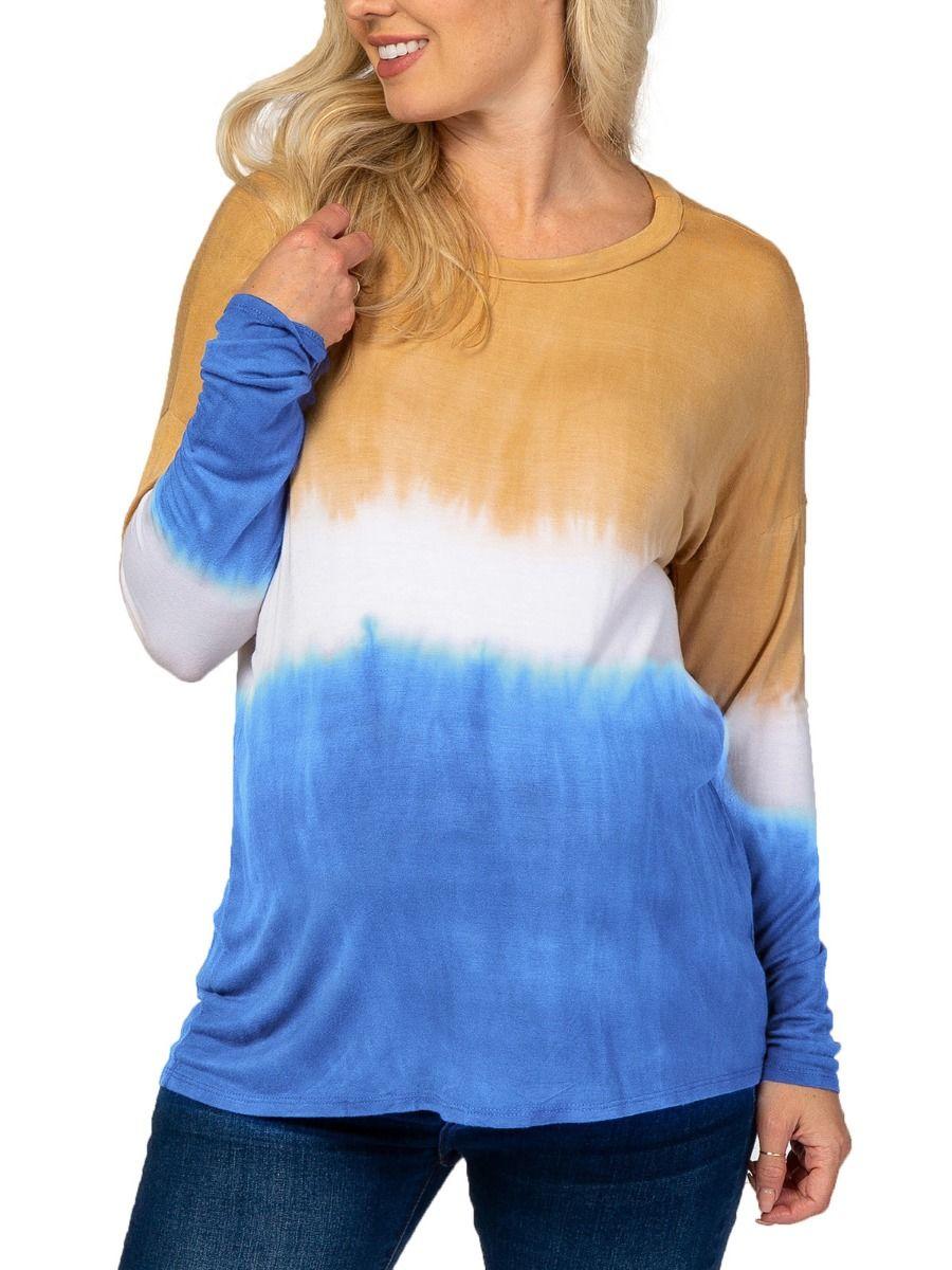 Tie-dye Gradient Maternity T-shirt Wholesale Women MOMMY & ME 2021-08-24